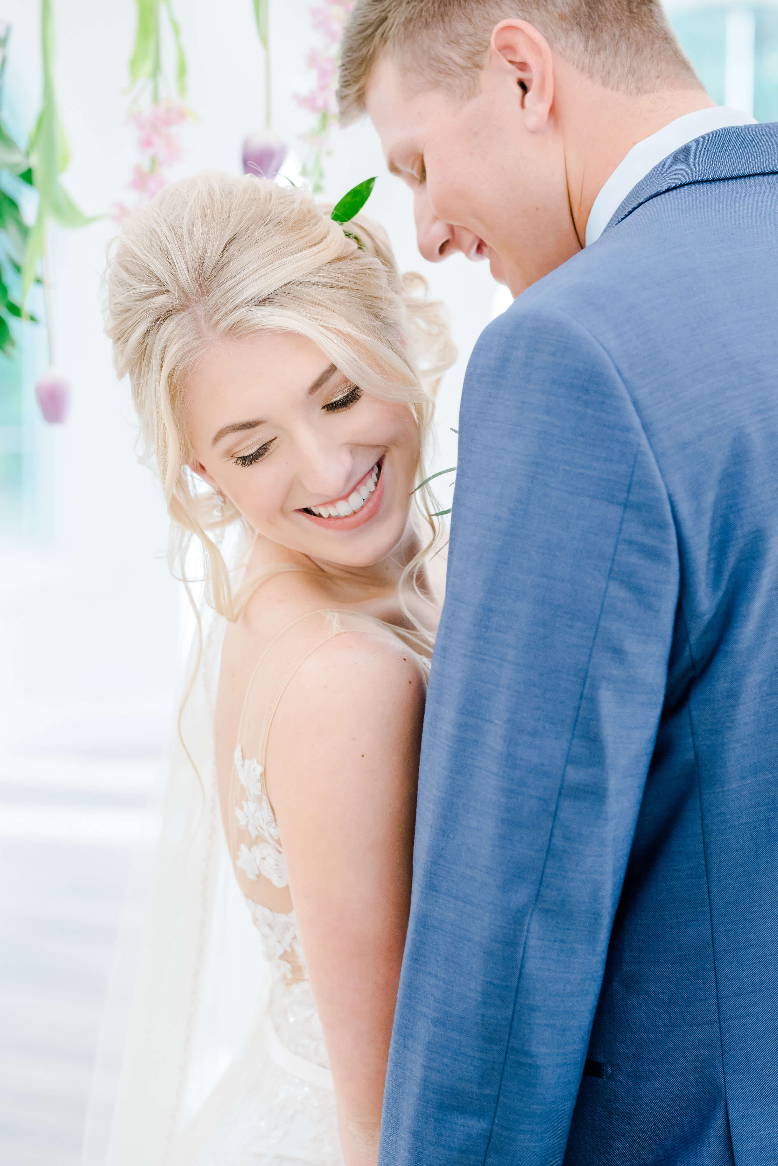 bride and groom in love photo, dreamy photo